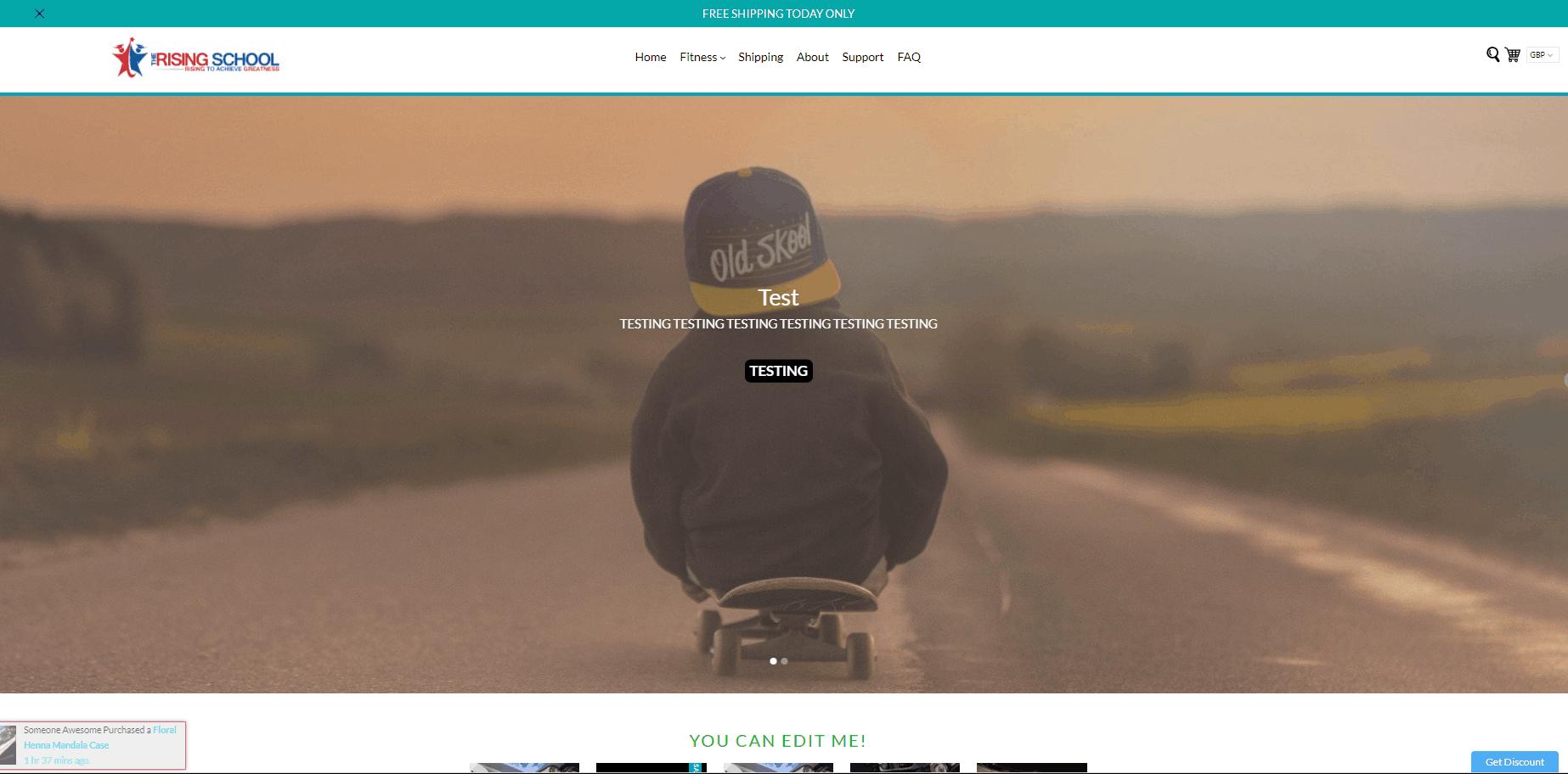 ecom turbo home screen
