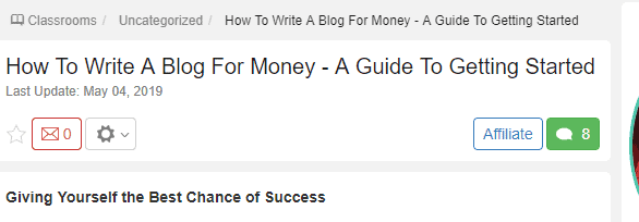 Wealthy Affiliate Review - Classes
