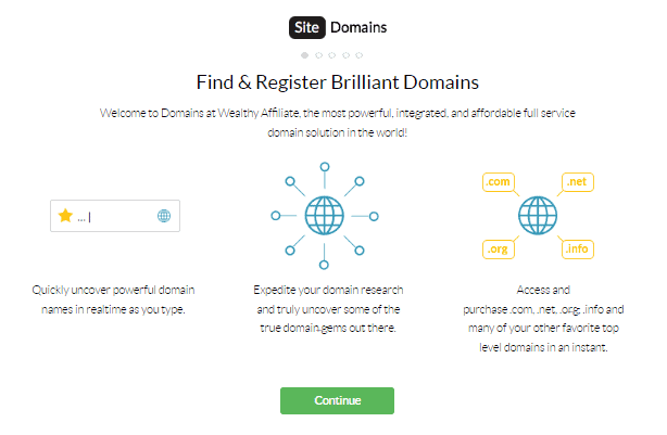 Wealthy Affiliate Review - Domain Register