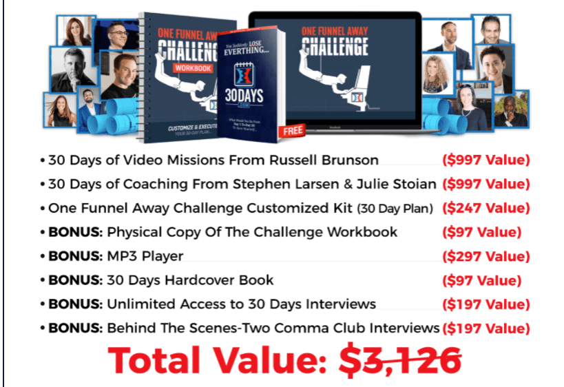 One Funnel Away Bonuses - The Best Affiliate Marketing Courses Under $500