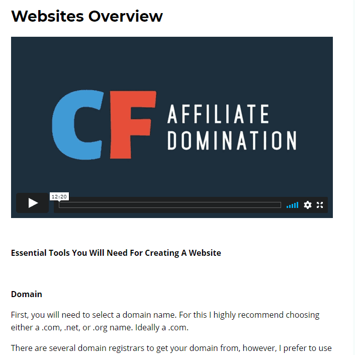 CF Affiliate Domination Review 6 CF Affiliate Domination Review