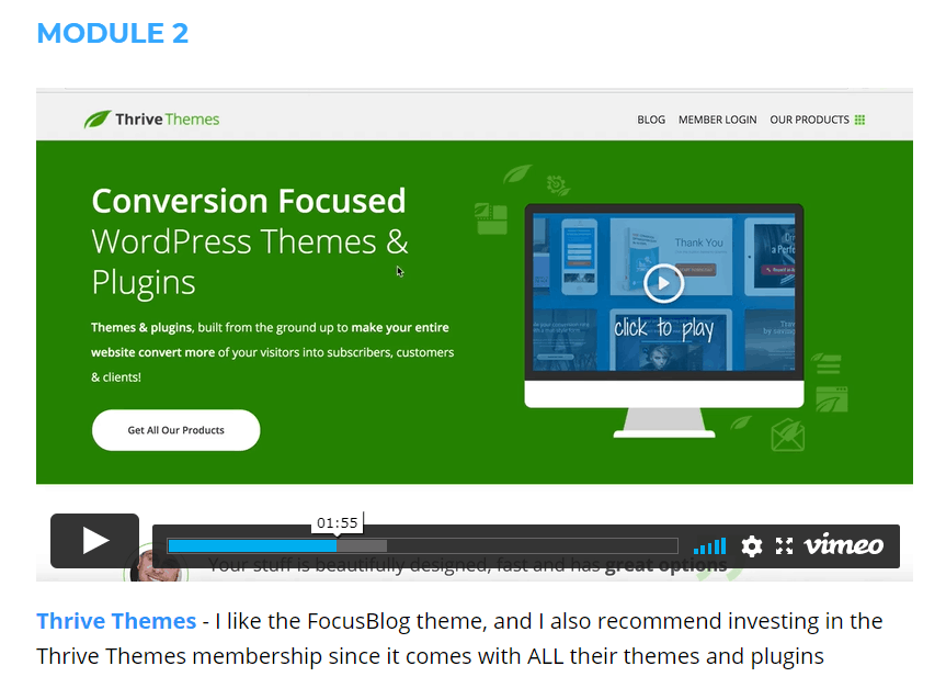 SEO Affiliate Domination Review - Module 2 Thrive
