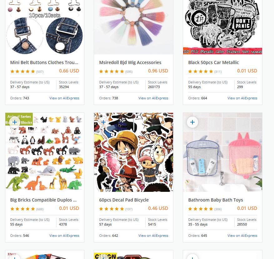 Salehoo DropShip Review - Product List