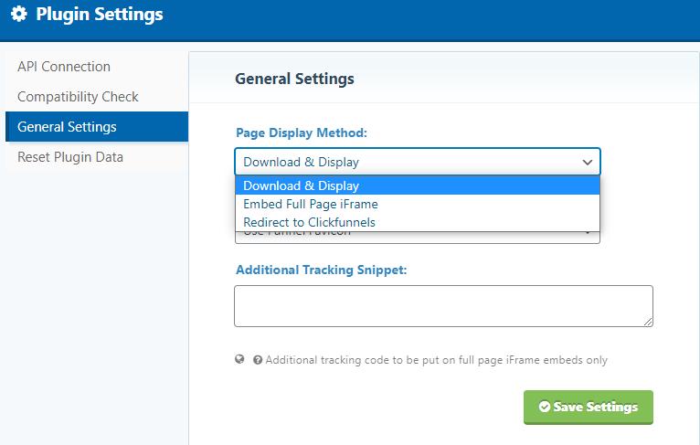 ClickFunnels Plugin Settings