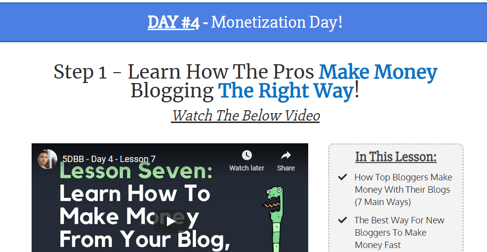 5 Day Blog Training - Top Free Affiliate Marketing Courses