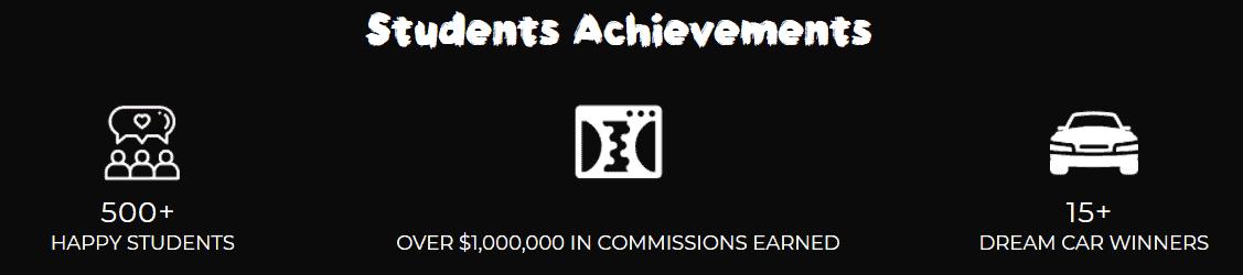 affiliate secrets review - achievements